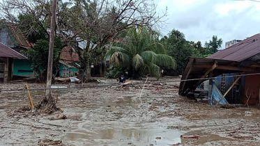 Bekas banjir bandang di Masamba.