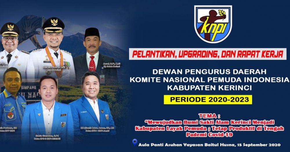 Pelantikan Ketua KNPI Kerinci Akan dihadiri Ketua DPP KNPI, DPD I Jambi, dan Forkompinda