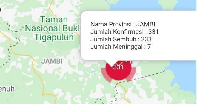 Tambahan 10 Orang Positif Covid19 di Provinsi Jambi Hari Ini