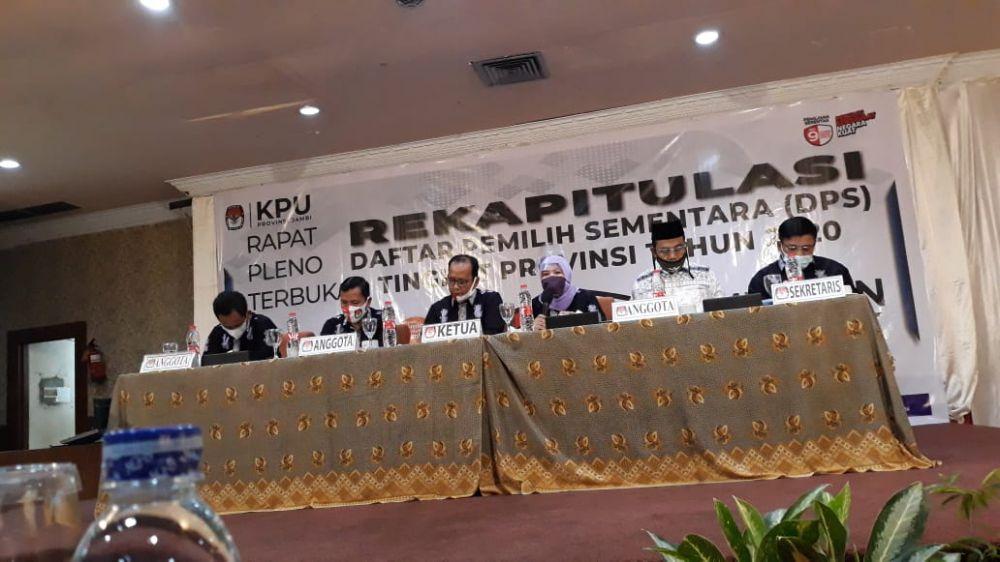 DPS Pilkada Serentak 2020 di Provinsi Jambi Ditetapkan, Ini Rinciannya