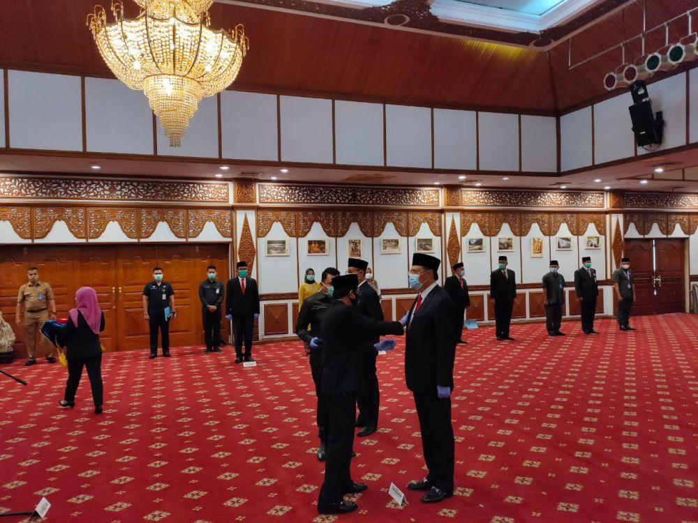 Penjabat Gubernur Jambi Kukuhkan Pjs Bupati Bungo dan Tanjab Timur