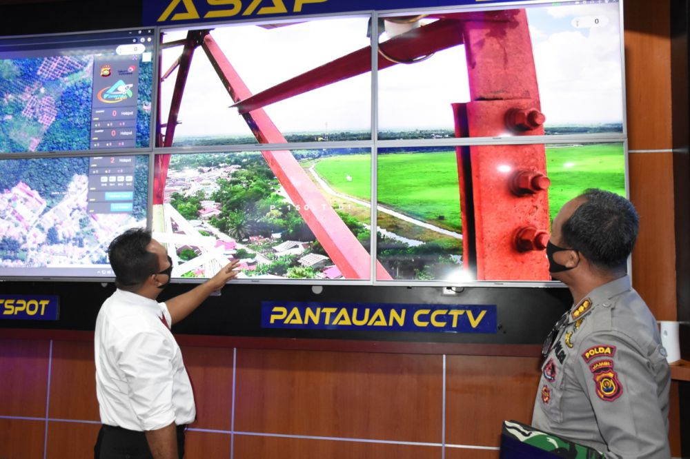 Polda Jambi Tambah CCTV Asap Digital di Dua Lokasi Baru.