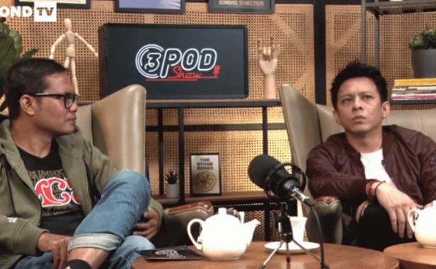 Ariel NOAH dan Soleh Solihun dalam podcast di kanal YouTube 3SECOND TV.