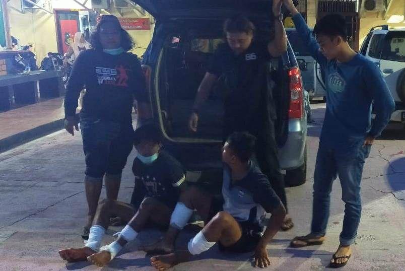 Dua pelaku yang berhasil diamankan di Tujuh Koto, Tebo