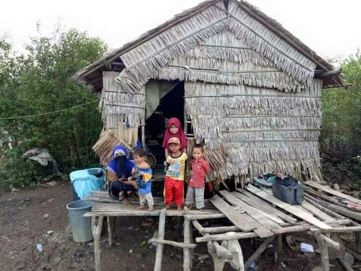 Rumah Warga di Sungai Sayang Tak Layak Huni.