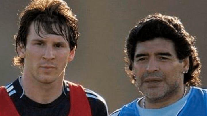 Lionel Messi dan Maradona.