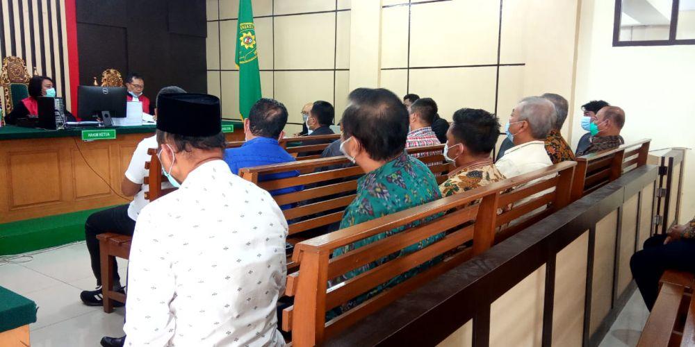 Sidang suap uang ketok palu RAPBD Provinsi Jambi 2017-2018.