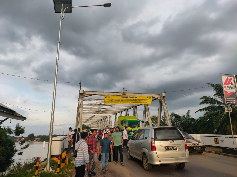 Besok Karet Jembatan Batanghari I Diganti.
