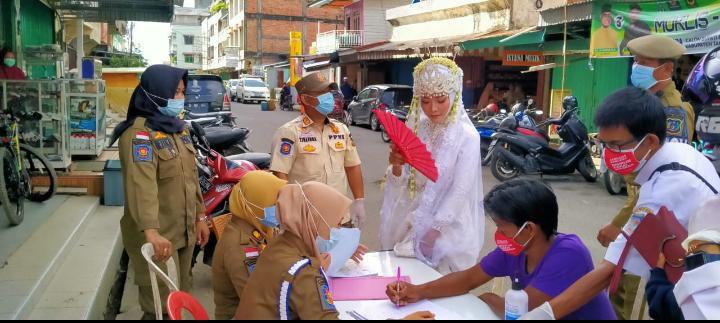 Pengantin Perempuan Di Tungkal Terjaring Operasi Yustisi.
