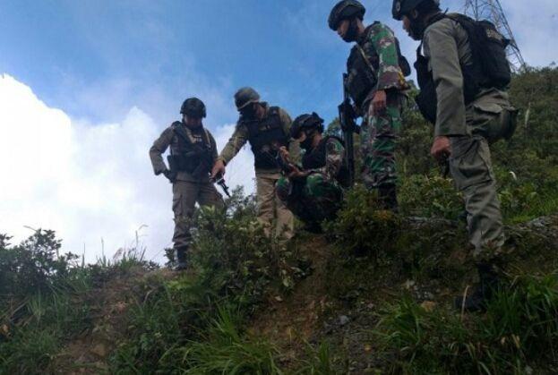 Baku tembak TNI dengan KKB di Titigi, Papua masih berlangsung. Foto: ANTARA/HO/Humas Polda Papua