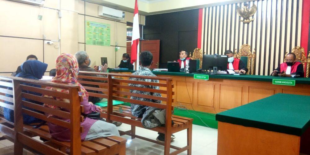 Sidang kasus korupsi Dana Desa Sungai Tering, Tanjab Timur yang berlangsung di Pengadilan Tipikor Jambi, dalam sidang ini JPU menghadirkan Tenaga Ahli Infrastruktur dari Dinas PMD Kabupaten Tanjab Timur