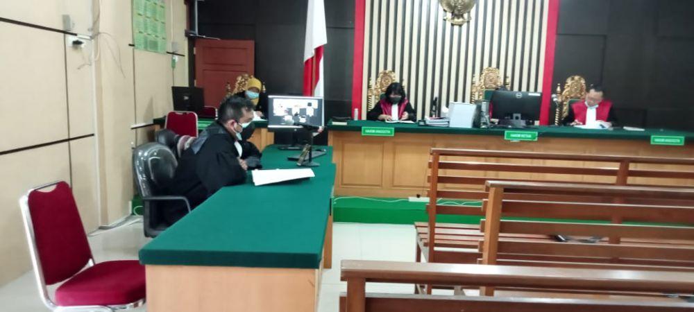 Sidang putusan terhadap tiga terdakwa kasus suap uang ketok palu RAPBD Provinsi Jambi 2017-2018.