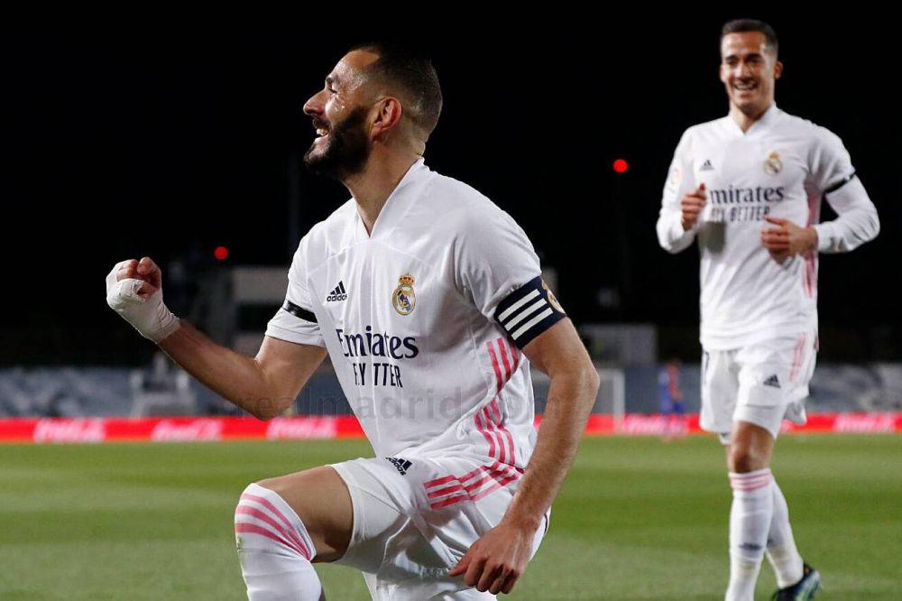 Pemain Real Madrid, Karim Benzema.