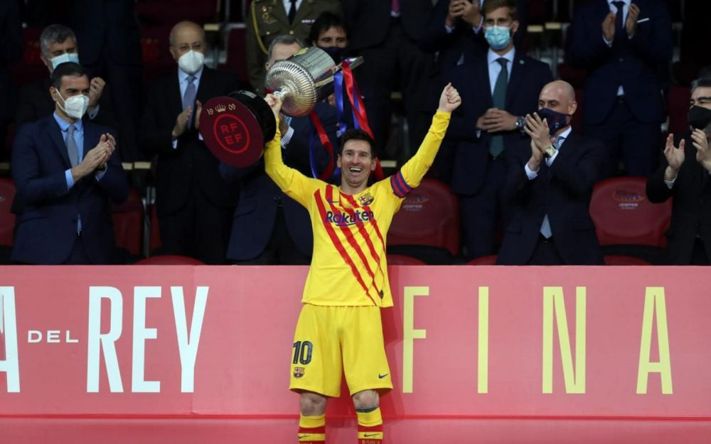 Pemain Barcelona, Lionel Messi. (Barcelona)