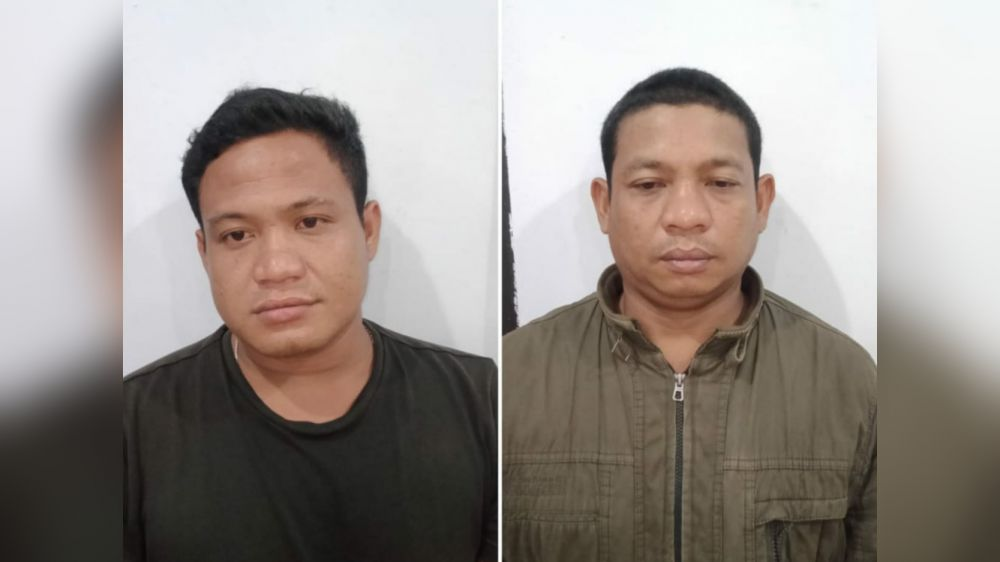 Tersangka pelaku illegal drilling yang beroperasi di Desa Pompa Air Kecamatan Bajubang ditangkap petugas dari Polres Batanghari.