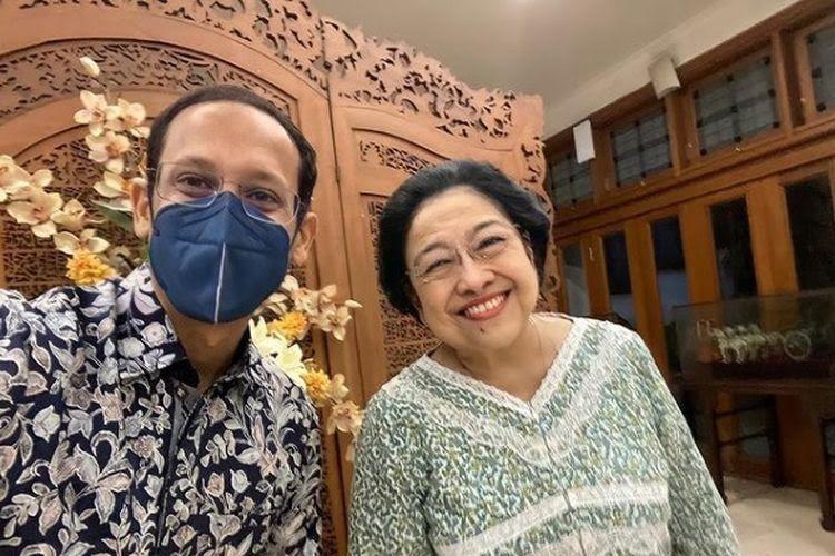Nadiem Makarim dan Megawati Soekarnoputri.