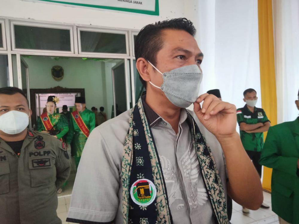 Bupati Batanghari Fadhil Arief saat menghadiri acara Muswil DPW PPP Provinsi Jambi di Muara Bulian (4/6).