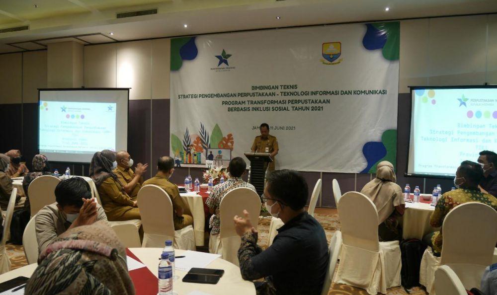Perpusnas Gelar Bimtek Strategi Pengembangan Perpustakaan dan TIK Layanan Perpustakaan di 32 Provinsi.