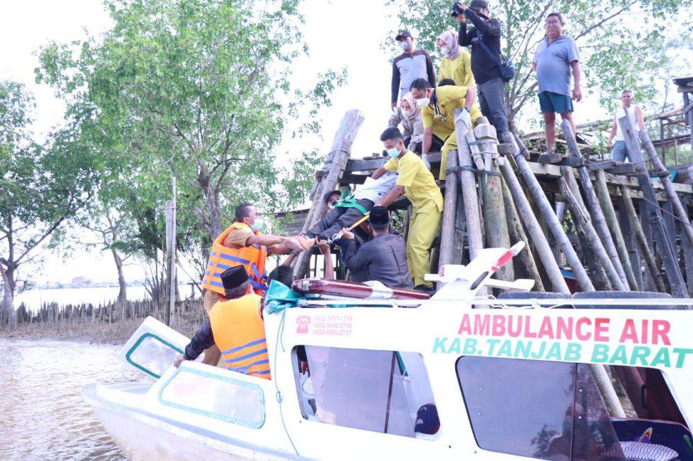 Ambulance Air di Tanjabbar Dapat Apresiasi Masyarakat.