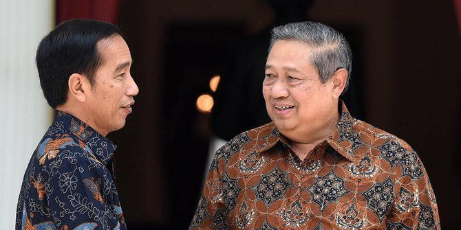 Joko Widodo dan Susilo Bambang Yudhoyono.