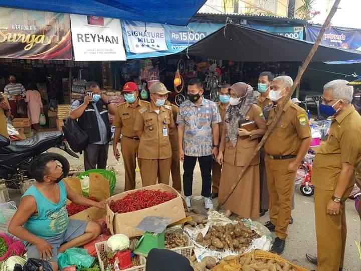 SIDAK: Tim Satgas melakukan sidak beberapa Pasar Tradisional.