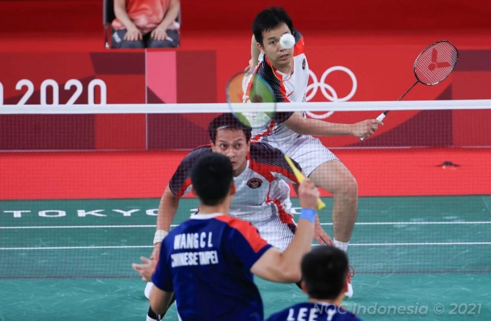 Ganda putra Indonesia, Mohammad Ahsan/Hendra Setiawan.