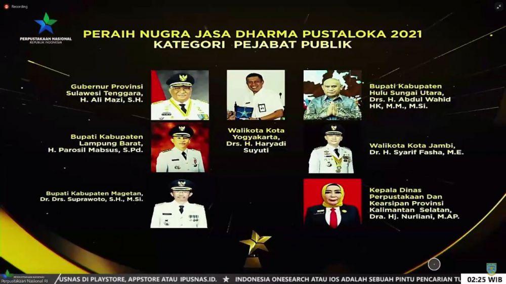 Walikota Jambi Sy Fasha Raih 2 Penghargaan Nasional.