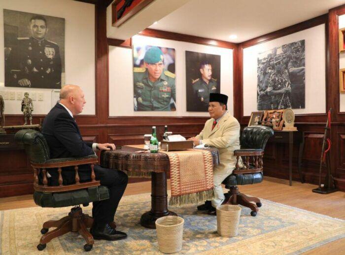Menhan RI Prabowo Subianto dan Menteri Pertahanan Australia Peter Dutton