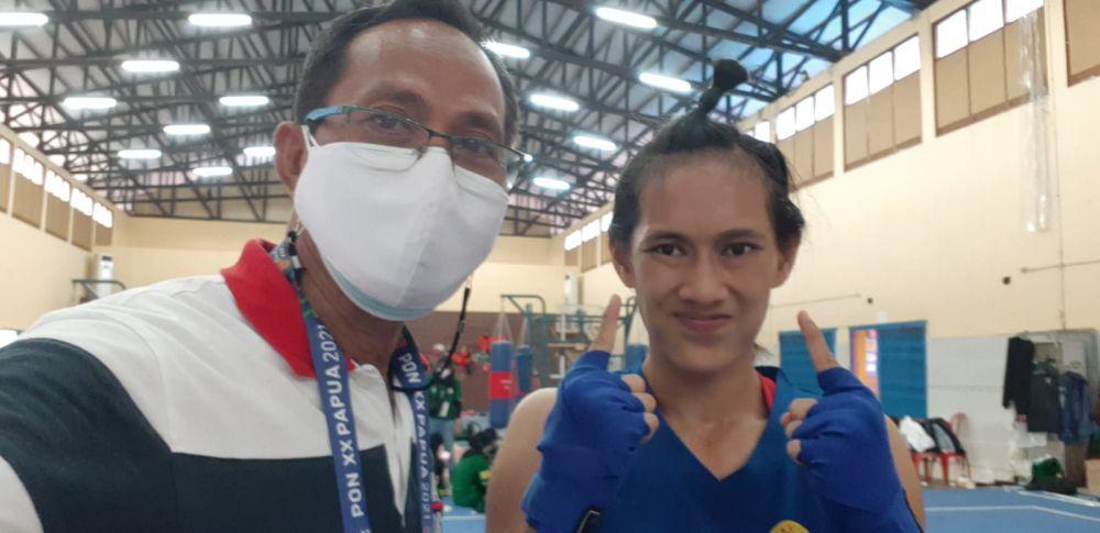 Atlet Wushu Berhasil Sumbang Emas Pertama Untuk Jambi di PON XX Papua.