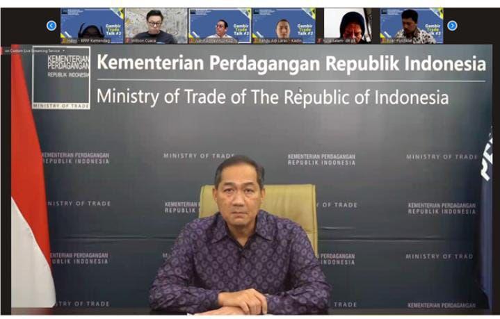 "Kementerian Perdagangan menggelar webinar dialog kebijakan ""Gambir Trade Talk ke-3"" yang mengangkat tema ""Transformasi Ekonomi Digital: Kesiapan Indonesia"